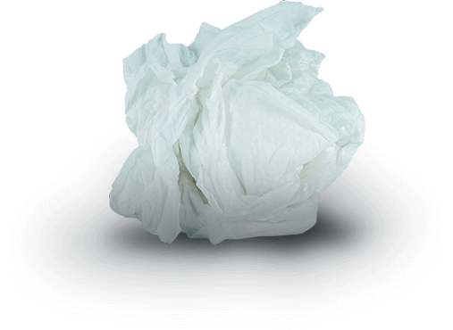 A picture of creased tissue