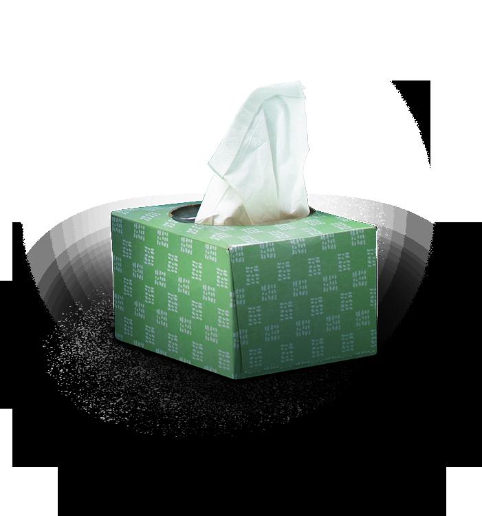 Green tissue box
